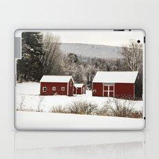 The Red Barn in Winter Laptop & iPad Skin