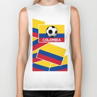 colombia Biker Tanks featuring Colombia Football by mailboxdisco