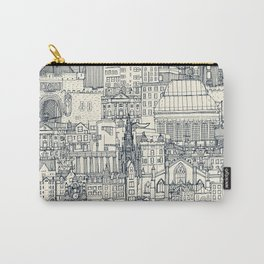 Edinburgh toile indigo pearl Carry-All Pouch