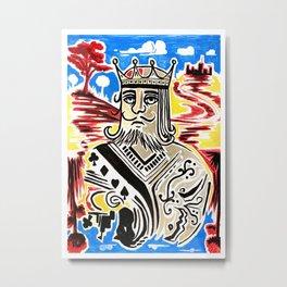 King Of Cards Metal Print