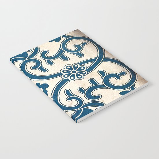 Blue Oriental Vintage Tile 02 Notebook