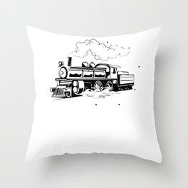 Steam Engine Train - Steam Engine Throw Pillow