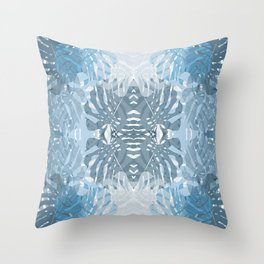 Jungle blues Throw Pillow
