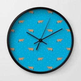 Jerseys // Blue Wall Clock