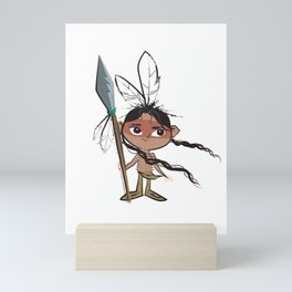 Untold Tales of Hiawatha Character Design Illustration Mini Art Print