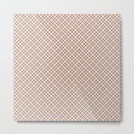 Plaid Pattern Metal Print