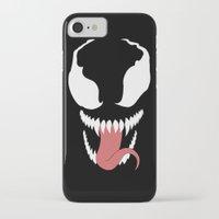 venom iPhone & iPod Cases featuring venom  by Rebecca McGoran