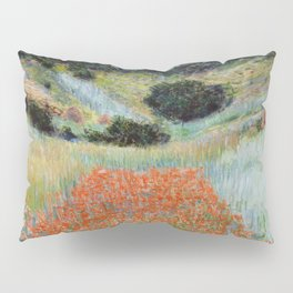Poppy Field in a Hollow near Giverny by Claude Monet Pillow Sham