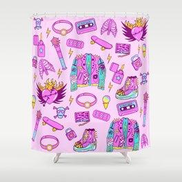 Pink Punk Girly Pattern Shower Curtain