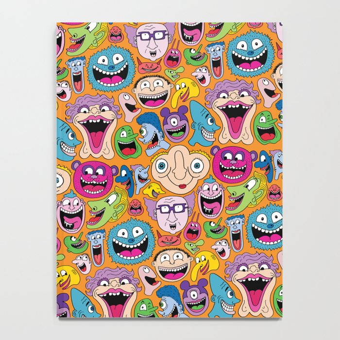 Creepy Smiles Pattern Notebook