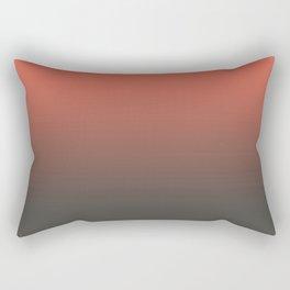 Pantone Living Coral & Beluga Gray Gradient Ombre Blend, Soft Horizontal Line Rectangular Pillow