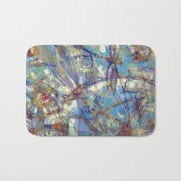 Dragonflies in blue Bath Mat