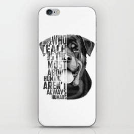 Rottweiler Quote Text Portrait iPhone Skin