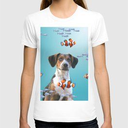 Jack Russel Terrier Clownfishes Underwater T-shirt