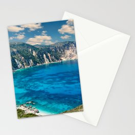 The spectacular beach Petani in Kefalonia island, Greece Stationery Cards