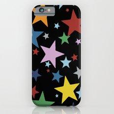 Multi Stars Black iPhone 6s Slim Case