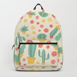 Cactus Pattern Backpack