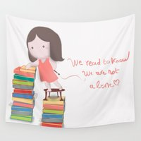 read Wall Tapestries featuring lets read  by Dubai icreative