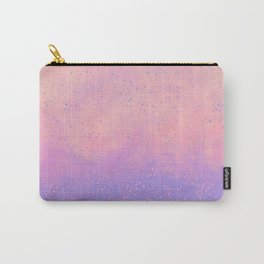 Lavender lilac pink artsy watercolor splatters Carry-All Pouch
