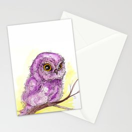 Purple Owlette Stationery Cards