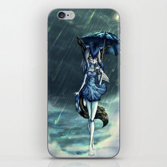 Standing in the rain iPhone & iPod Skin