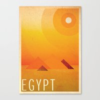egypt Canvas Prints featuring Egypt by Laura Greenan Design