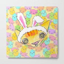 """Oro?"" Easter Bunny Metal Print"