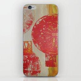 Antique door handle - abstract, rustic, antique, bright, warm, red, acrylic piece iPhone Skin