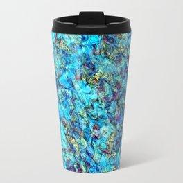 Turquoise Pebble Pool Ripple Travel Mug