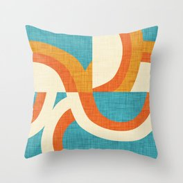 New Mid Mod Freeway Blue #mid-century Throw Pillow