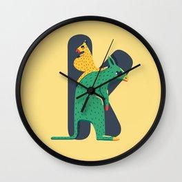 K for Kangaroo Wall Clock