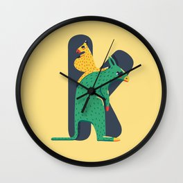 K for Kangaroo Wall Clock