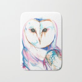 Colorful Barn Owl Splash Bath Mat