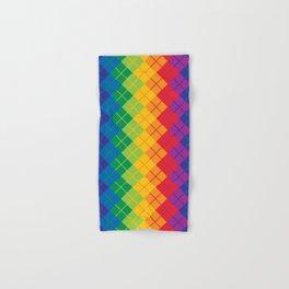 Rainbow Argyle Hand & Bath Towel