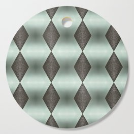 Mint Green, Cream & Chocolate Brown No. 5 Cutting Board