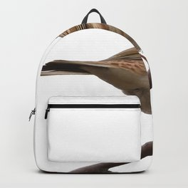 Rustic Bunting Bird Vector Isolated Backpack