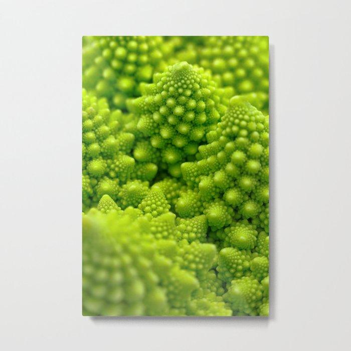 Macro Romanesco Broccoli Metal Print
