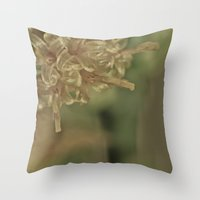 champagne Throw Pillows featuring Champagne by Nicole Dupee