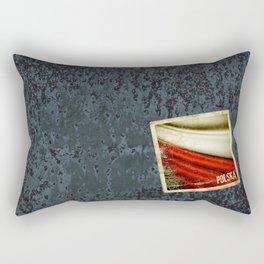 STICKER OF POLAND flag Rectangular Pillow