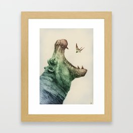 All Men Are Born Eagle Framed Art Print