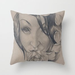 Draven Rose Throw Pillow