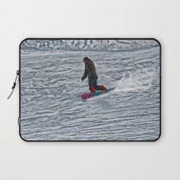 Cutting Corners - Winter Snow-boarder Laptop Sleeve