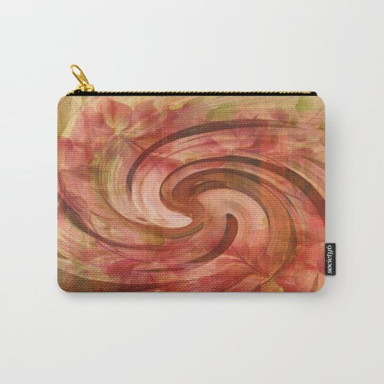 Peach Floral Swirl Abstract Carry-All Pouch