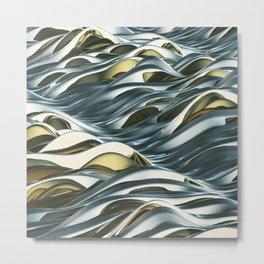"""""""Waves"""" Metal Print"""