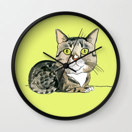 Green-eyed Cat Wall Clock