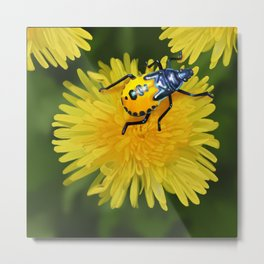 Bright Beetle Metal Print