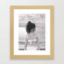 Facing Immensity Framed Art Print