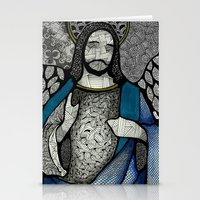 jesus Stationery Cards featuring Jesus  by Luciana Pupo