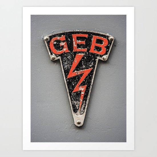 G E B Art Print