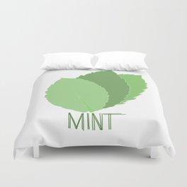 Mint Leaves Duvet Cover